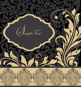 Floral vintage invitation card — Wektor stockowy