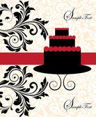 день рождения приглашение — Cтоковый вектор