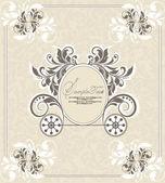 Progettazione di invito matrimonio vintage con carrello — Vettoriale Stock