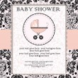 Baby shower invitation — Vector de stock #7349000