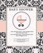 Baby shower invitation — Stok Vektör