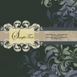 Floral invitation card with place for text — Image vectorielle