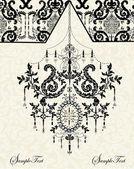 Pozvánka na vinobraníビンテージ結婚式の招待 — Stock vektor