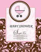 Baby dusch tillkännagivande — Stockvektor