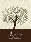 Cartão de convite com floral abstrato — Vetorial Stock