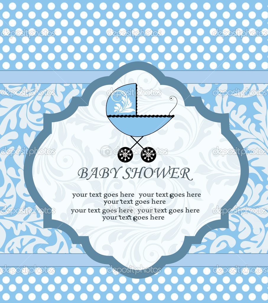 Baby boy arrival card, vector — Stock Vector #7404024