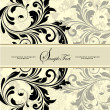 Stock vektor: Vintage invitation card with abstract floral background