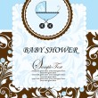 Baby shower invitation — Vector de stock #7468709