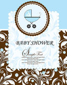 Baby shower uitnodiging — Stockvector