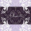 Stock Vector: Elegant purple invitation card
