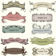 Stok Vektör: Set of decorative vintage labels