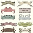 Set of decorative vintage labels — Vector de stock #7479425
