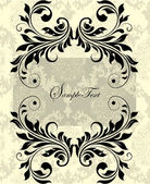 Vintage invitation card with floral elements — Stock Vector
