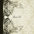Vector de stock : Vintage invitation card with abstract floral background