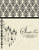 ELEGANT VINTAGE INVITATION CARD WITH CHANDELIER — Vector de stock
