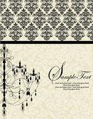 Invitación elegante vintage con lámpara — Vector de stock