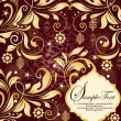 Elegant floral christmas background — Imagen vectorial