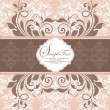 Vector de stock : ELEGANT DAMASK INVITATION CARD
