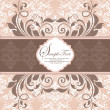 ストックベクタ: ELEGANT DAMASK INVITATION CARD