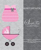 Baby shower inbjudan — Stockvektor