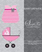 Baby shower invitation — Vector de stock