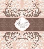 Cartão elegante convite de damasco — Vetorial Stock