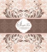 Elegant damast inbjudningskort — Stockvektor