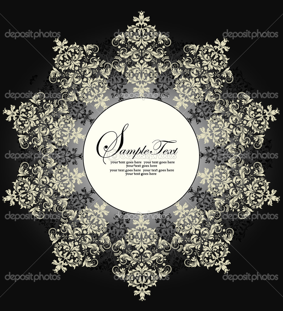 DAMASK BACKGROUND — Stock Vector #7547585
