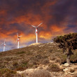 Wind turbines in movement — Foto de stock #6806498