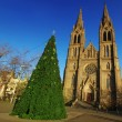 Church and christmas tree — Stock Photo #6806600