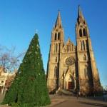 Church and christmas tree — Stock Photo #6806602