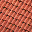Red roof — Foto Stock