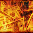 Stock Photo: US money burning