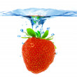 Royalty-Free Stock Photo: Strawberry in water