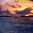 Sunset in the Maldives — Stock Photo
