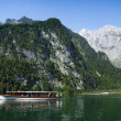 Boat and Alps — Stock Photo