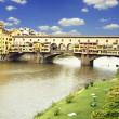 Sunset over Ponte Vecchio - Stock Photo