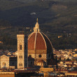 Cathedral in Florence and night — Stock Photo