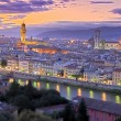 Stock Photo: Sunset in Florence