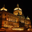 Stock Photo: Czech national museum in night
