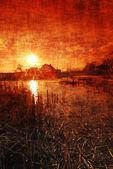 Grungy sunset — Stock Photo