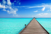 Jetty in the Maldives — Stock Photo