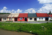 Colorful houses in a row — Stockfoto