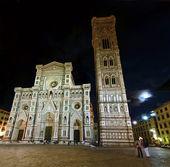Katedralen i Florens och natt — Stockfoto