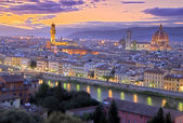 Sunset in Florence — Stock Photo