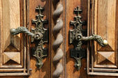 Manijas de puerta antigua — Foto de Stock