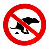 No dog poop — Stock Photo