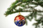 Christmas tree with deco — Stock Photo