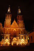 Cathedral in Prague in the night — Stock Photo