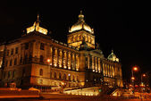 Czech national museum in the night — Stock Photo